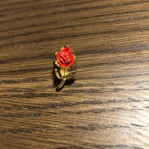 Dainty Golden Rose Pin